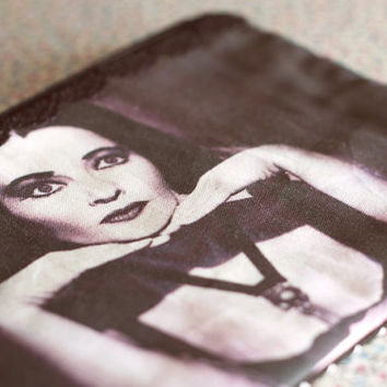 The Munsters bag.Lily Munster zipper pouch coin purse.Horror Monster.Multi purpose bag.Goth Makeup Bag.Classic horror.Punk pencil case.Vamp.