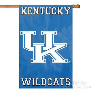 Kentucky Wildcats 2-sided 28x44 Embroidered Applique Banner Flag University of
