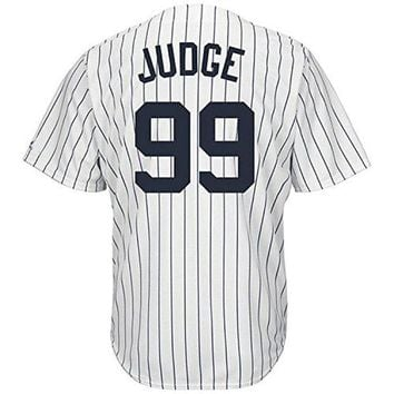 DCCKW7H Nighty's Shop Mens #99 Aaron_Judge Home White Player Stitched Baseball Jerseys