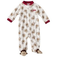 Just One You® made by Carter's Newborn Boys' Monkey Sleep N' Play - Tan/Red