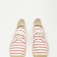 Striped Lace-Up Espadrilles