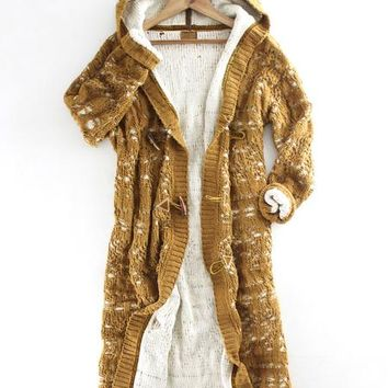 Chenille Hooded Cardigan