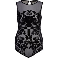 Black baroque print body