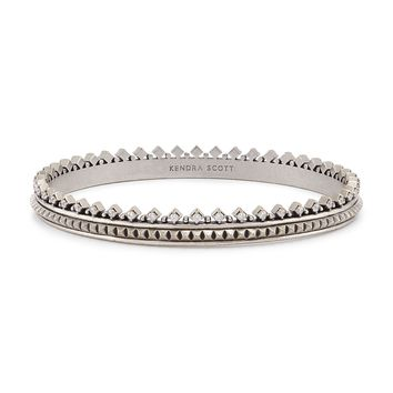 Mary Caroline Silver Bangle Bracelet | Kendra Scott