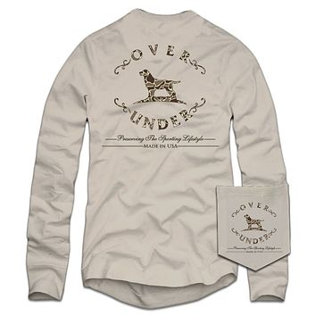 Long Sleeve Duck Camo T-Shirt in Oyster by Over Under Clothing