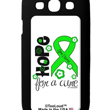 Hope for a Cure - Lime Green Ribbon Lyme Disease - Flowers Galaxy S3 Case  by TooLoud