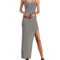 Ribbed Asymmetrical Maxi Dress by Charlotte Russe