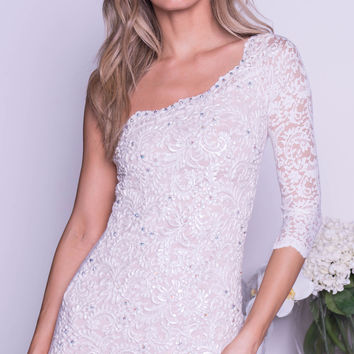 THAIS LACE DRESS IN WHITE