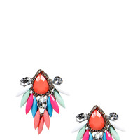Mollie Teardrop Gem Statement Earrings