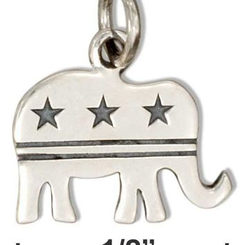 Sterling Silver Republican Elephant Charm