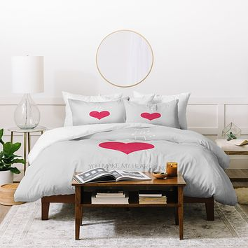 Allyson Johnson You Make My Heart Sing Duvet Cover
