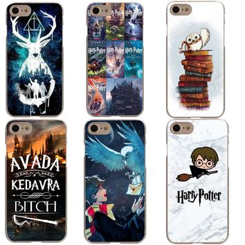 Phone Case For iphone 5 5S SE 6 6S Plus 7XR XS MAX 8 8 Plus X 10 Harry Potter Hogwarts Pattern Design Hard PC Coque Capa Fundas