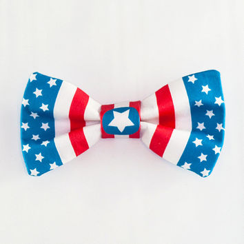 Bow Headband Avengers Captain America Marvel American Flag Comics