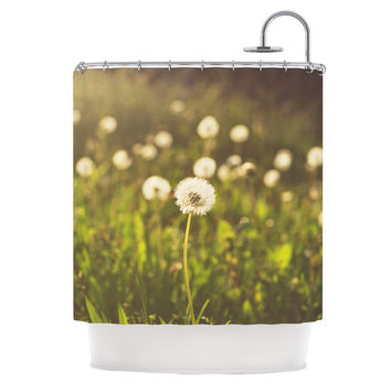 "Libertad Leal ""As You Wish"" Dandelions Shower Curtain"