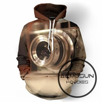 ALMOSUN Photographers Lens 3D All Over Print Pullover Hoodies Hip Hop Hipster Jumper Sportwear Men Women Plus Size