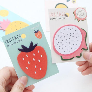 Fruit Age Dreams Come True Mini Memo Pad N Times Sticky Notes Escolar Papelaria School Supply Bookmark Post it Label