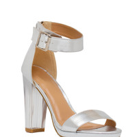Lucite Sandal - Clear