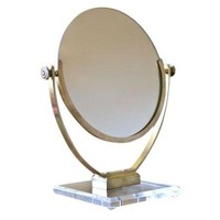 Pre-owned Charles Hollis Jones Brass & Lucite Vanity Mirror