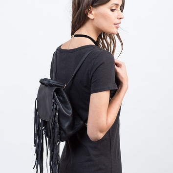 Mini Fringe Backpack