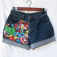 High waisted shorts superheroes comic Marvel by GloriousMorn