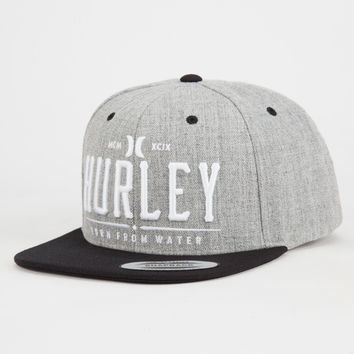 Hurley All Day Mens Snapback Hat Gray