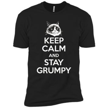 Grumpy Cat Keep Calm And Stay Grumpy Poster Graphic  Next Level Premium Short Sleeve Tee