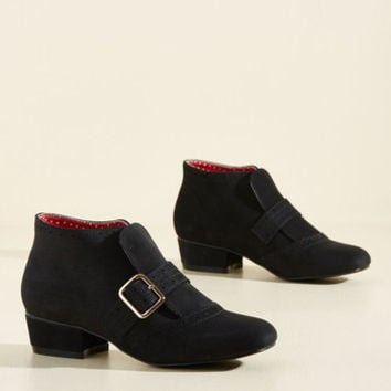 Showcase Your Strut Bootie in Onyx | Mod Retro Vintage Boots | ModCloth.com