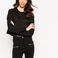 Daisy Street Sweatshirt with Front Pocket Detail