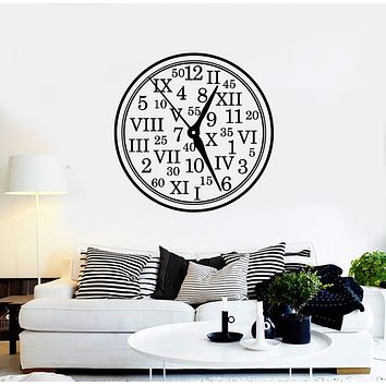 Vinyl Wall Decal Clock Home Decor Roman Numerals Number Stickers Mural (g988)