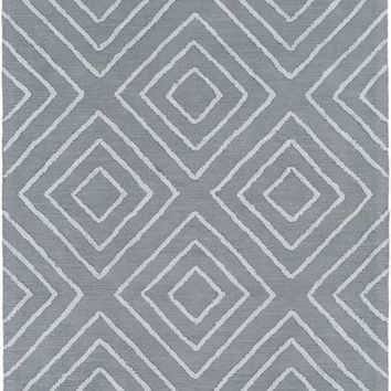 Gable Geometric Area Rug Blue