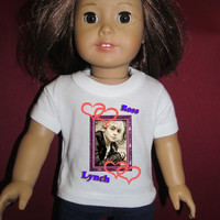 """Disney Ross Lynch Austin & Ally TV Show T-shirt with Matching Shirt For American Doll Teddy Bear Fits 18"""""""