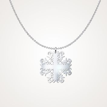 Sterling Silver Filigree Cross Necklace