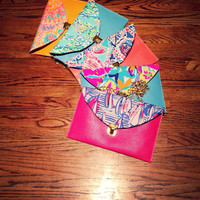 Custom Lilly Pulitzer Envelope Clutch