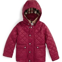 Burberry 'Jamie' Quilted Hooded Puffer Jacket (Toddler Girls) | Nordstrom