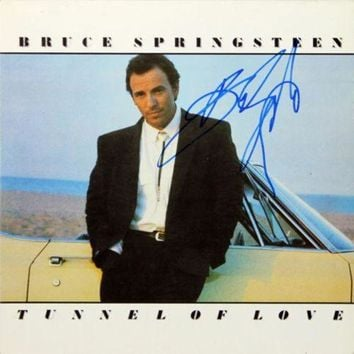 ICIKJNG Bruce Springsteen Signed Autographed 'Tunnel of Love' Record Album (Beckett COA)
