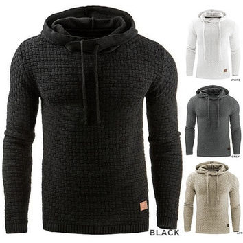 Men's Winter Hoodie Warm Hooded Sweatshirt Coat Jacket Outwear Sweater [9145169670]