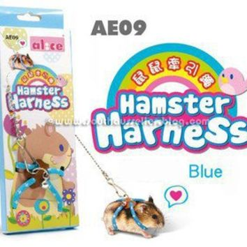 Adjustable Harness Leash, Lead Hamster Rat Mouse Squirrel Sugar Glider Small Pet