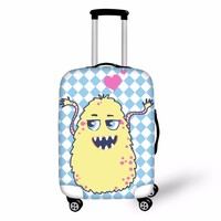 FORUDESIGNS Monsters University Suitcase Cover Cute Cartoon Printing Luggage Suitcase Protective Cover Trolley Luggage Accessori