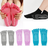 Womens Yoga Socks  Sport Gym Fitness pilates Socks Five Finger Toe No-Slip Foot Massage = 1933173700