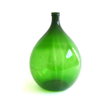 Vintage Demijohn Bottle Glass Carboy Bottle by stonesoupology