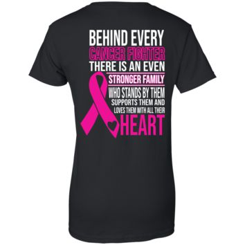 Cancer - Family Support Ladies' 100% Cotton T-Shirt