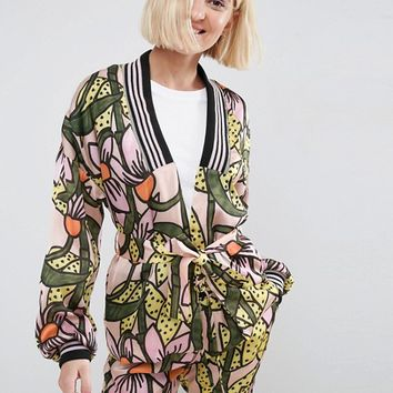 ASOS Made In Kenya Kimono with Tie Waist at asos.com