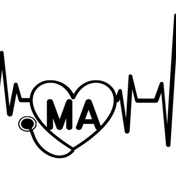 Heartbeat MA Vinyl Graphic Decal