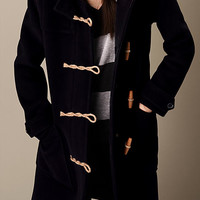 Long Wool Blend Duffle Coat