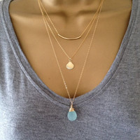 3 Gold Layering Necklaces UK Shop