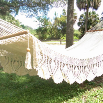 Large Handmade 100%cotton Royale Wedding Hammock