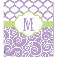 Lavender Baby Blanket Personalized MONOGRAM Soft Baby Blanket Nursery Fleece Blanket Nursery Decor Swirl Baby Bedding Choose Colors