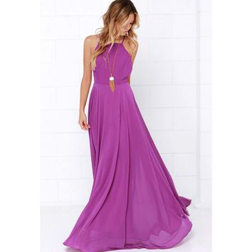 New Arrivals Lady Dresses Women Chiffon Long Sleeveless Slim Fit Dress Party Long Maxi Gown Dresses Plus Size Women Clothing