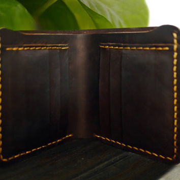 Men Engraved Wallet /Personalized Men's Leather Bifold Wallet/Minimalist Wallet /Custom wallet/ Slim Wallet/ travel wallet