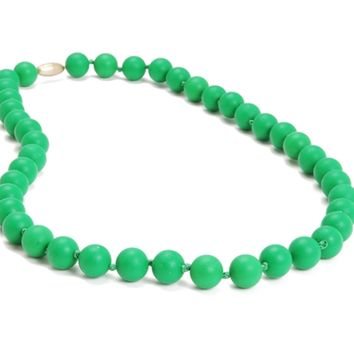 Chewbeads Jane Teething Necklace - Emerald Green